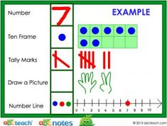 Counting and Cardinality for Kindergarten - Number Representation - Kindergarten Math Standards - Interactive Whiteboard - preview 1