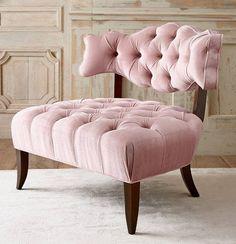 pale pink, tufting