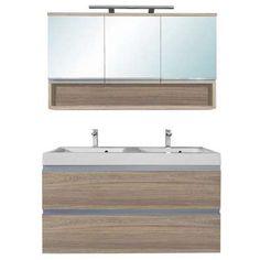 SOL 120 komplett fürdőszoba bútor 3 ajtós tükrös felső résszel   Fürdőszoba bútor    csapuniverzum.hu Double Vanity, Sink, Bathroom, Home Decor, Sink Tops, Washroom, Vessel Sink, Decoration Home, Room Decor