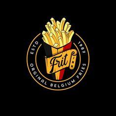 Logo Design Services, Custom Logo Design, Batata No Cone, Small Coffee Shop, Hotel Logo, Kiosk Design, Cafe Logo, Some Text, Decorating Coffee Tables