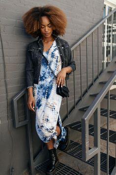 modest clothing store, blue tie dye dress, modest clothes