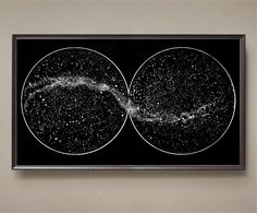 Celestial Star Chart Constellations, Northern Hemisphere, Southern Hemisphere, Andromeda Galaxy, Milky Way, Star Map, Star Guide, Wall Art by FoundryCo on Etsy (null)
