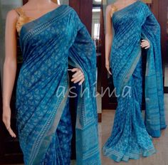 Code:C2006163 - Printed Chanderi Saree, Price INR:2640/-