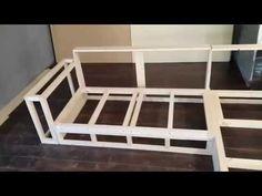 Мебель своими руками. Изготовление дивана. Часть 1 Каркас. - YouTube