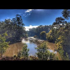 Today we followed the river and came to a clearing ... #localloops #viewfromthesaddle