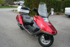 1986 Honda Helix - the original Maxi Scooter. The Barcalounger on wheels!