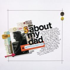5 Things About My Dad - Scrapbook.com