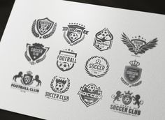 Soccer Logo Football logo collection by Super Pig Shop on @creativemarket