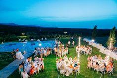 Wedding dinner after villa wedding in Crete by Moments www.weddingincrete.com