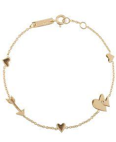 Motherlove Armband für Damen von Lennebelle in Gold. Das handgefertigte, mit 18 Karat hochwertig vergoldete Armband erweist sich als modisches Accessoires für stilbewusste Mütter. Bei LODENFREY