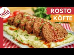 Mashed Roast Meatball (with video) Yummy Recipes- Püreli Rosto Köfte (videol Yummy Recipes, Diet Recipes, Cooking Recipes, Yummy Food, Slow Food, Atkins, Fast Food, Turkish Recipes, Homemade Beauty Products