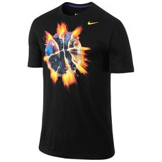 Nike End Of The World Glow Ball T-Shirt - Men's - Basketball - Clothing - Black/Court Purple