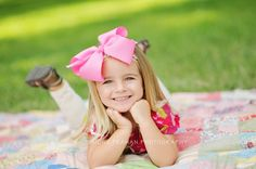 3 year old girl photography minus the big bow. Little Girl Photography, Children Photography, Family Photography, Photography Ideas, Spring Photography, 3rd Birthday Pictures, 3 Year Old Girl, Little Girl Photos, Toddler Pictures
