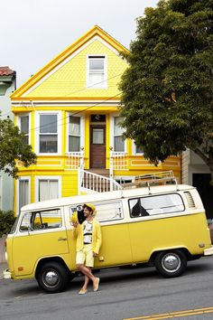 Pretty Photos of People Matching SF Houses - The Bold Italic.  San Francisco, hipster town.