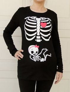 Halloween Skeleton Shirt Halloween Costume par CutsieTootsieApparel