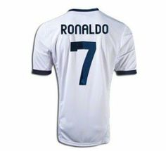 Cristiano Ronaldo Real Madrid Home Jersey 12/13 (Medium) by soccer jersey. $54.99. embroidered patches. size medium for adult. short sleeve. EMBROIDERED TEAM BADGE AND LOGOS!! NO PLASTIC !! NEW WITH TAGS REAL MADRID HOME # 7 RONALDO 2012-2013 SOCCER JESRSEY SIZE MEDIUM ( M ) FOR ADULT