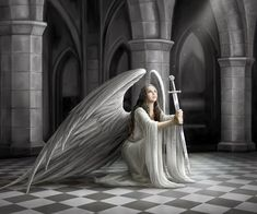 WALLPAPERS - Gothic, skulls, death, fantasy, erotic and animals: A N G E L S