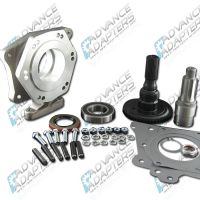 50-1300 : GM TH400 automatice transmission to the Jeep Dana 18/20 transfer case (with 6 spline drive gear), adapter kit.