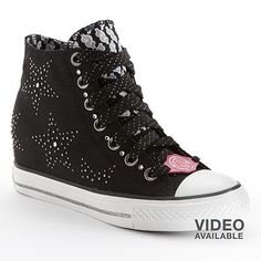 Skechers Daddys Money Gimme Star Studded Wedge Sneakers - Women