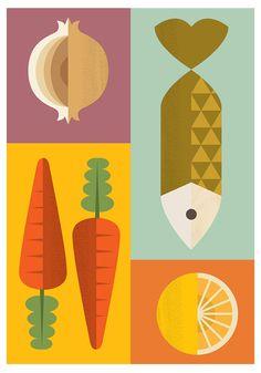Scandinavian print Reteo kitchen Kitchen print Art for door handz