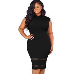 31a2a5abc9b92 Casual Sexy Sleeveless O-Neck Plus Size Knee-Length Dress