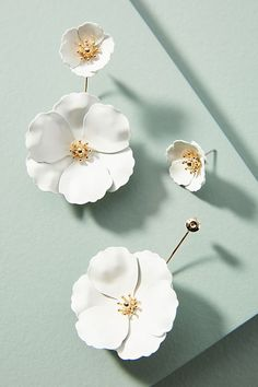 Slide View: 1: Captiva Floral Front-Back Earrings