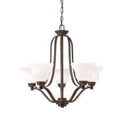 Kichler 1783OZL16 - Langford Chandelier 5Lt LED in Olde Bronze