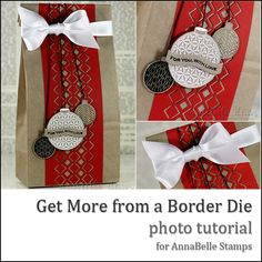 Danielle Daws: Topical Tuesday - Getting More From A Border Die All Things Christmas, Christmas Crafts, Die Cut Paper, Gift Wrapping, Wrapping Ideas, Photo Tutorial, Gift Bags, Making Ideas, Holiday Cards