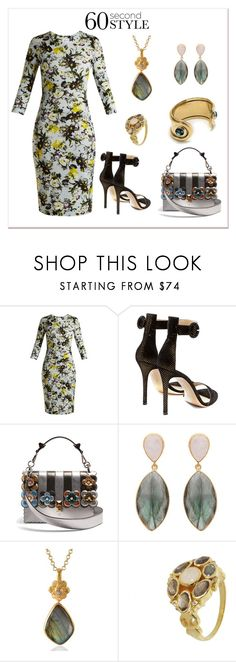 """""""Career Wear"""" by karen-galves ❤ liked on Polyvore featuring Erdem, Gianvito Rossi, Fendi, Emma Chapman, Pomegranate and Pamela Love"""