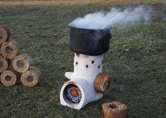Holey Roket Stove, by Rok Oblak, co-designer Larry Winiarski, 2009, photo credits: Margherita Marzorati