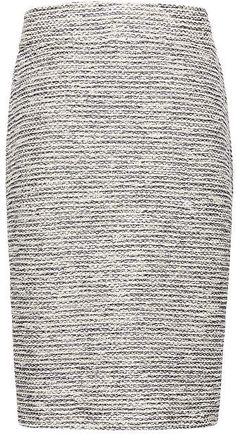 Boucl?? Knit Pencil Skirt #waisted#Fitted#High