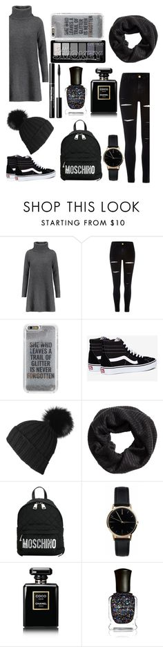"""""""#4"""" by shasy ❤ liked on Polyvore featuring Madeleine Thompson, River Island, Agent 18, Vans, Black, H&M, Moschino, Freedom To Exist, Chanel and Deborah Lippmann"""