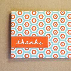 Hexagon Thank You Card.