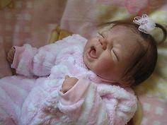 Darling ooak reborn baby Missy from the Sydney sculpt by Pat Moulton