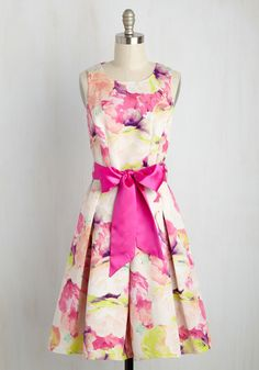 Friendship Feast Floral Dress. Your monthly potluck has taken a turn for the fancy, which means you get to serve up this floral dress from Eliza J as a fabulous style appetizer! #multi #modcloth