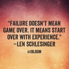 "Don't let your ""falls"" in life get the best of you! Your game is not over!"
