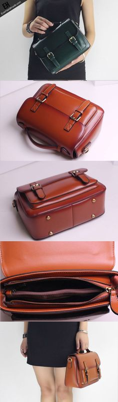 Genuine Leather handbag shoulder bag satchel bag for women