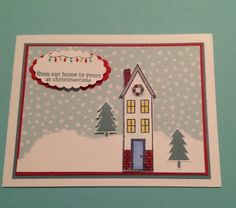 Holiday Home www.stampingwithlinda.com Check out my Stamp of the Month Kit Program Linda Bauwin – CARD-iologist Helping you create cards from the heart.
