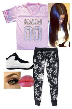 """""""00"""" by jocelyn-cardona-1 ❤ liked on Polyvore featuring beauty, Aéropostale, NIKE and Revlon"""