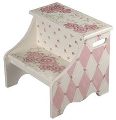 Adorable rose step stool
