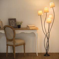 Metal floor lamp and fabric H 158 cm TUSCANY