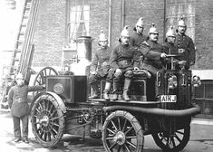 """London Fire Brigade. I wonder how long it took to get up steam before """"rushing"""" to the fire?"""