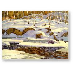 Quality print by Group Of Seven artist A. Casson - Winter On The Don Available framed. Made In Canada. Tom Thomson, Group Of Seven Artists, Group Of Seven Paintings, Canadian Painters, Canadian Artists, Richard Diebenkorn, Mary Cassatt, Landscape Art, Landscape Paintings
