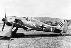 The Focke-Wulf Fw 190 Würger (English: Shrike) is a German single-seat, single-engine fighter aircraft designed by Kurt Tank in the late 1930s and widely used during World War II. Along with its well-known counterpart, the Messerschmitt Bf 109, the Fw 190 became the backbone of the Luftwaffe's Jagdwaffe (Fighter Force). The twin-row BMW 801 radial engine that powered most operational versions enabled the Fw 190 to lift larger loads than the Bf 109, allowing its use as a day fighter…