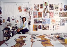 Kenyan artist Wangechi Mutu uses her work to explore race, politics, and gender through a variety of mediums such as video, sculpture, and collage. Born in Nairobi, Kenya, Mutu moved to the United States for college in the 1990s. She went on to earn an MFA in sculpture from Yale. Matu now lives and works in Brooklyn, where her work was recently on display in a major exhibition at the Brooklyn Museum. #FeministArt