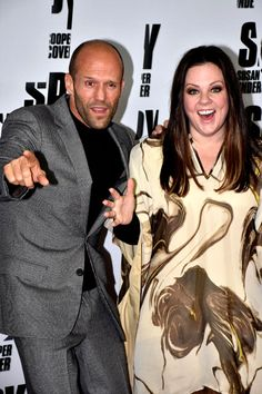 Melissa McCarthy and her co-star Jason Statham were having a great time goofing off at the photocall for their film Spy at Hotel de Rome on May 26 in Berlin, Germany.