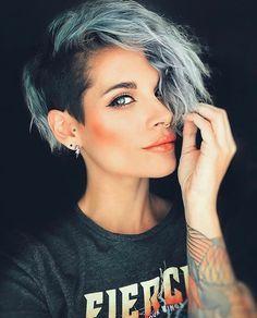 Undercut Hairstyles Women, Undercut Women, Short Hair Undercut, Cool Short Hairstyles, Latest Hairstyles, Haircut Short, Hairstyles 2018, Side Undercut, Edgy Short Haircuts