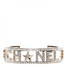 CHANEL Crystal Baguette Logo Cuff Bracelet Gold #mariskelately #apparel #shopping #luxliving #luxuryshopping #onlinestore #beauty #health #makeup #bags #fitness #style #uniquestyle #fashion #fashionistas #fashionphile #jewlry #luxuryliving #luxuryjewelry #makeastatement #refinedlife #chanel Fitness Style, Shop Till You Drop, Makeup Bags, Luxury Jewelry, Baguette, Jewelery, Chanel, Bling, Crystals