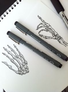 Hand-drawn Skeleton Hands