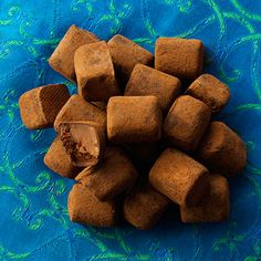 Chocolate Truffles are chocolate candies, named because they are designed to resemble mushroom truffles.